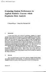 Evaluating Student Performance in Applied Statistics C