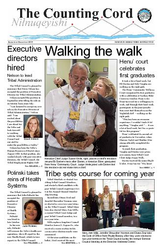 See MEETING, p. 5Walking the walkThe Tribal Council is pleased to anno