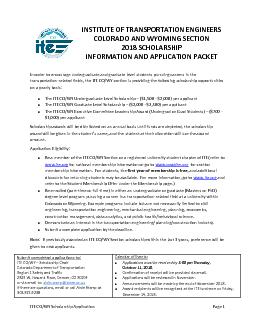 ITE CO/WY Scholarship Application