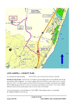 LOCALITY PLAN Contract WS 7165 LOVU LANDFILL: CELL 4 & ANCILLARY WORKS
