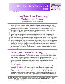 Achieving a long-term care system that meets individual needs and dist