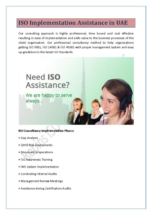 ISO Implementation Assistance in UAE