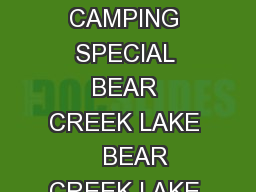 PARK STANDARD ELECTRIC WATER ELECWATER SEWER PRIMITIVE Site Specific GROUP CAMPING SPECIAL BEAR CREEK LAKE    BEAR CREEK LAKE WATERFRONT  BELLE ISLE    CALEDON  CHIPPOKES  CG A  CG B   CLAYTOR LAKE
