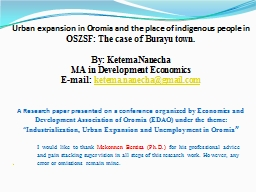 Urban expansion in Oromia and the place of indigenous people in