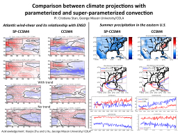 Comparison between climate projections with parameterized and super-parameterized convection