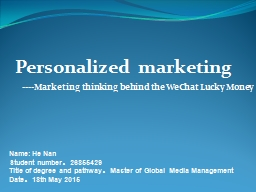 ----Marketing thinking behind the WeChat Lucky Money