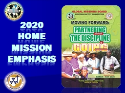 2020 home mission  emphasis
