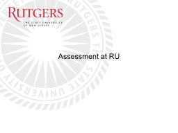 Assessment at RU Executive Council on Assessment