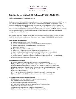 Funding Opportunity: DOD Releases FY 202