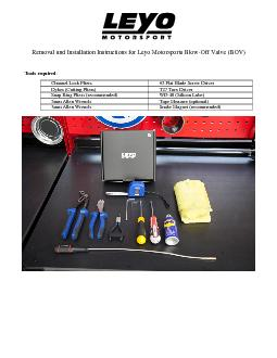 Removal and Installation Instructions for Leyo Motorsports Blow ...