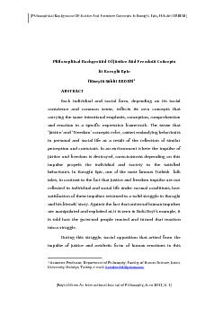 [Philosophical Background Of Justice And Freedom Concepts In Koroglu E