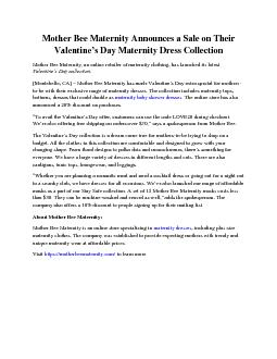 Mother Bee Maternity Announces a Sale on Their Valentine's Day Maternity Dress Collection