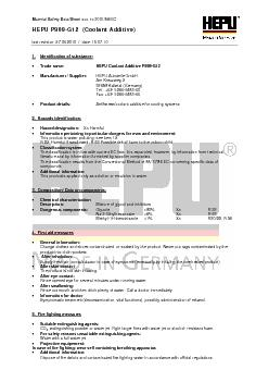 Material Safety Data Sheet acc. to 2001/58/EC  HEPU P999-G12  (Coolant