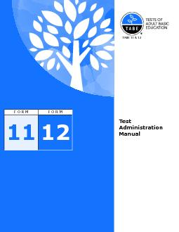 TABE Test Administration ManualPage iiDeveloped and published by Data