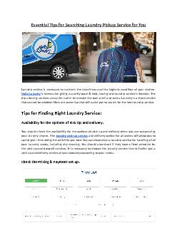 Essential Tips for Searching Local Laundry Service Nearby You - Hello Laundry