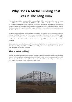 Why Does A Metal Building Cost Less In The Long Run - Bansal Roofing