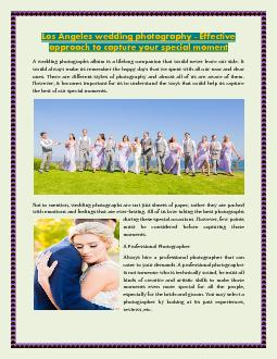 Los Angeles wedding photography - Effective approach to capture your special moment