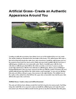 Artificial Grass - Create a Natural Look in Your House