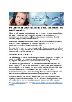 The Connection Between Learning Difficulties, Autism, and Neurotransmitters
