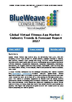 Global Virtual Fitness App Market – Industry Trends & Forecast Report 2027