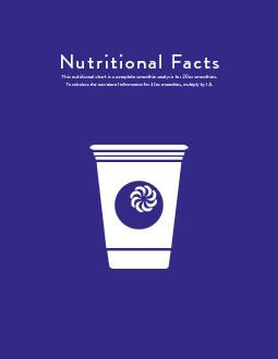 This nutritional chart is a complete smoothie analysis for 20oz smooth