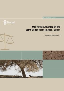 MidTerm Evaluation of the Joint Donor Team in Juba SudanEvaluation R