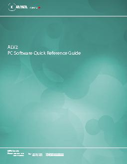 PC Software Quick Reference Guide