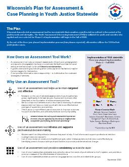 Wisconsins Plan for Assessment  Case Planning in Youth Justice State