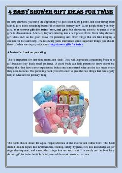 4 baby shower gift ideas for twins