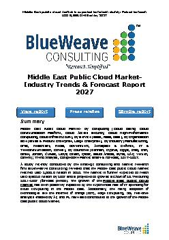 Middle East Public Cloud Market- Industry Trends & Forecast Report 2027