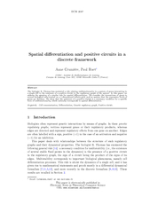 DCM  Spatial dierentiation and positive circuits in a