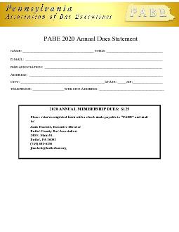 2020 ANNUAL MEMBERSHIP DUES125Please return completed form with a ch