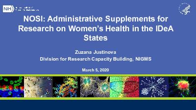 NOSI Administrative Supplements for Research on Women146s Health i