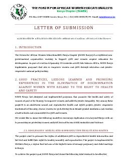 LETTER OF SUBMISSION