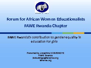 Forum for African Women Educationalists
