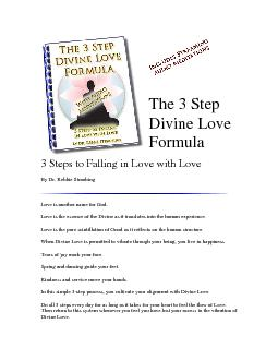 The 3 Step 3 Steps to Falling in Love with Love  By Dr Rebbie Strau