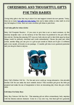 Cherishing and thoughtful gifts for twin babies