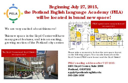 We are very excited about this move  This new space in the Lloyd Cent