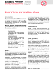 general terms and conditions of sale