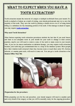 What to expect when you have a tooth extraction?