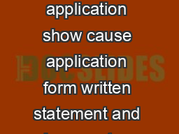 Student ID number Section B Enrolment details Important Completed application show cause application form written statement and documentary evidence must be returned t o a Student Centre or mailed to