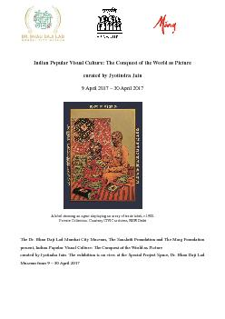 Indian Popular Visual Culture The Conquest of the World as Picture