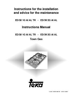 Instructions for the installationand advice for the maintenanceED30 1