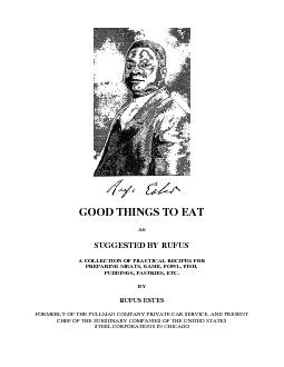 GOOD THINGS TO EATSUGGESTED BY RUFUSA COLLECTION OF PRACTICAL RECIPES