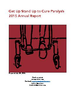 2015 Annual Report     Prepared July 30th 2015  Check us out at www