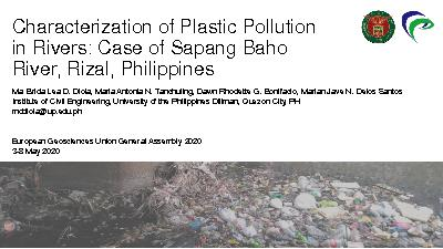 Characterization of Plastic Pollution