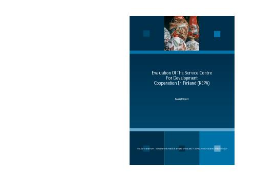 EVALUATION REPORT  MINISTRY FOR FOREIGN AFFAIRS OF FINLAND  DEPARTME