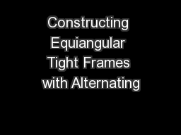 Constructing Equiangular Tight Frames with Alternating