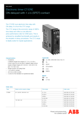 SVR   F Data sheet Electronic timer CTERE ONdelayed wi