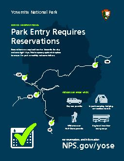 Reservations are required to enter Yosemite for day or vacation rental
